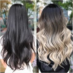 Black to blonde bleached color