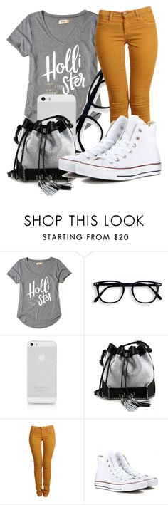"""""""Untitled #507"""" by msfts-rep on Polyvore featuring Hollister Co., AT&T, Carianne Moore, Second and Converse"""