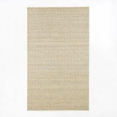 dining room - 8x10 or 9x12? Jute Chenille Herringbone Rug - Natural/Ivory | west elm