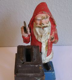 Antique Santa Claus cast iron bank  holiday gift by TrulyMeVintage