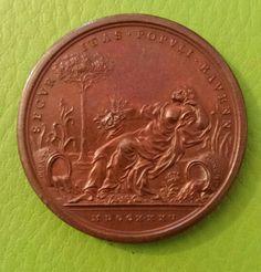 Clemente XII medaglia bronzo per la diversione dei fiumi Ronco e Montone 1735 verso - Raccolta  Personale..