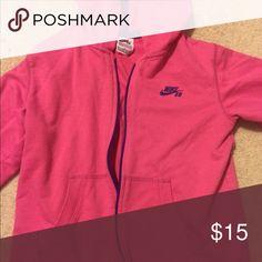 Nike girls pink hoodie Size medium, good condition Nike Shirts & Tops Sweatshirts & Hoodies