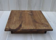 "Wood Cake Stand Wedding Rustic Cake Stand 14""x14"" x4"" Woodland Cake Display Home Decor"