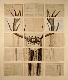A artista plástica russa Ekaterina Panikanova usou livros antigos como tela para pintar. O resultado ficou super interessante.