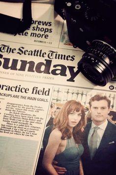 Fifty Shades of Grey Daily! / Fifty Shades Of Grey / movie / Christian Grey / Jamie Dornan / Anastasia Steele / Dakota Johnson / Graduation / Seattle