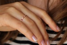 Eternity Ring with Diamonds and Rubies 18K Gold by artemer