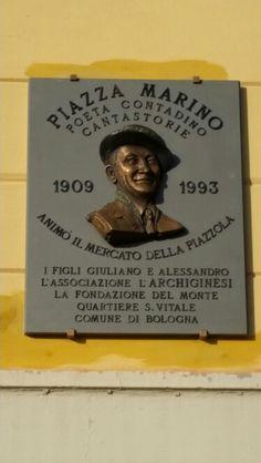La targa in memoria di Piazza Marino in Montagnola