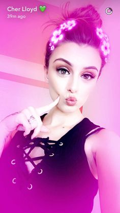 Cher Lloyd on snapchat