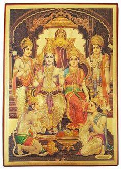 Hanuman Images, Durga Images, Durga Painting, Tanjore Painting, Baby Krishna, Krishna Art, Shree Ram Images, Lord Sri Rama, Lord Rama Images
