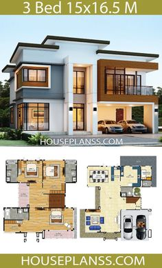 Modern House Floor Plans, House Plans Mansion, Sims House Plans, House Layout Plans, Bedroom House Plans, Dream House Plans, House Layouts, Bedroom Tv, Two Story House Design