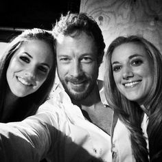 """Feelin' the love, of the love triangle. From every angle, it's a beautiful tangle ;)"" - Kris Holden-Ried via twitter, with Anna Silk & Zoie Palmer"