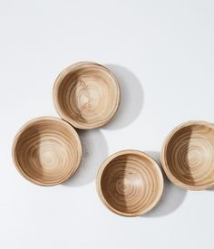 hg - natural wood bowl