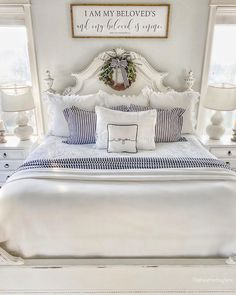 """Heather Lane on Instagram: """"Hey y'all! Happy Wednesday! I get a lot of questions about our bed so I decided to answer the most asked questions I get in this post. . .…"""" Cheap Bedroom Decor, Cheap Wall Decor, Cheap Home Decor, Romantic Home Decor, Unique Home Decor, Vintage Home Decor, Interior House Colors, Home Remodeling Diy, Home Decor Quotes"""