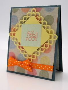 Sweet Pea Polka Dot Get Well Greeting Card by DesignsByCnC on Etsy,