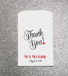 Hey, I found this really awesome Etsy listing at https://www.etsy.com/listing/474723961/thank-you-wedding-candy-bag-wedding