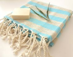 Used in the Turkish baths for centuries, Peshtemal is a traditional Turkish towel, absorbs water as fast as towels, dries five times quicker and are