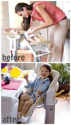 Pego Perego Convertible Tatamia high chair is used as a swing + an infant chair, and eventually a big kid chair