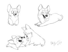 Just cause its Corgi here's some Fridays! Happy Corgi!  ★ || CHARACTER DESIGN REFERENCES (https://www.facebook.com/CharacterDesignReferences & https://www.pinterest.com/characterdesigh) • Love Character Design? Join the #CDChallenge (link→ https://www.facebook.com/groups/CharacterDesignChallenge) Share your unique vision of a theme, promote your art in a community of over 40.000 artists! || ★