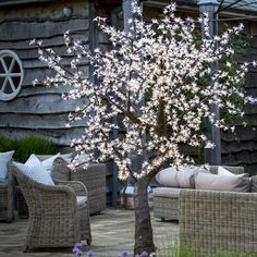 Ourcherry trees' energy efficient LEDs are nestled within the cherry blossom petals and are powered with a 13AMP plug. Use them all year round indoors or out to add a touch of magic to your house or garden.