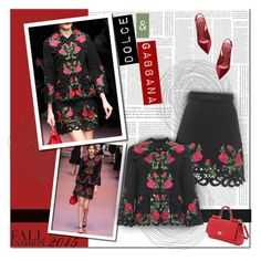 """""""Dolce & Gabbana Fall 2015 Ready-to-wears"""" by alves-nogueira ❤ liked on Polyvore"""