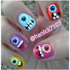 monster #nail #nails #nailart