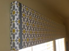 There is a tutorial on how to make these valences. Might try it with a drop cloth that I could stencil. Hmm..