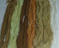 Wool - Tribulations of Hand Spinning and Herbal Dyeing: A Trial of Comfrey Plant Dye on Wool with Alum, Iron and Copper Mordants