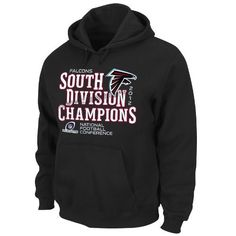81e9e4775 NFL Atlanta Falcons 2012 NFC South Division Champs Men s Hoodie