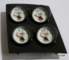 1968-1974 Nova Console Black Finish Quad Pod with Phantom II Electric Gauges