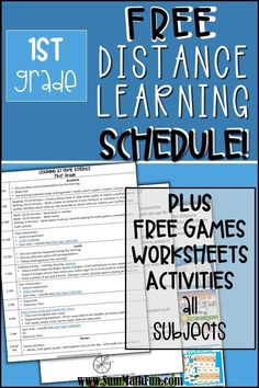 Free Distance Learning Home Schedule for Parents Grade Fun Math, Learning Activities, Math Games, Social Emotional Learning, Social Skills, Math Classroom, Classroom Freebies, Classroom Ideas, Free Teaching Resources