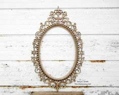 Large Ornate Gold Oval Frame  One Oval Frame by TheDistressingGirl -could use this as table seating chart or mr and mrs sign or our picture