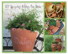 DIY Upcycled Broken Pot Ideas via @microgardener/