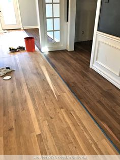 Testing Minwax Stain Colors For Hardwood Floor For The