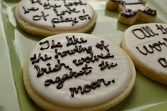 Shakespeare Quotation Cookies