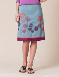 Dandelion Skirt by Boden. I hardly ever wear skirts anymore, but I love the playfulness and variety the embroidery adds.