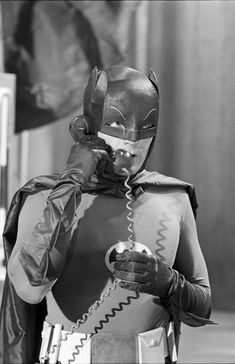 It never fails: whenever Batman gets on the horn with James Gordon the first thing the Caped Crusader says is Yes Commissioner. Enjoy this iconic still from the classic 1966 Batman TV Series that's re
