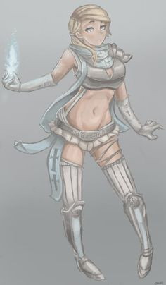 Die Blue Cleric by QKuro.deviantart.com on @DeviantArt