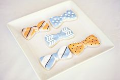 Bow tie cookies. So cute!