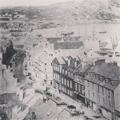 Flashback Friday: vintage pic of Water Street, St John's, Newfoundland. credit to The Book of Newfoundland vol Newfoundland Canada, Newfoundland And Labrador, Devon Uk, Home And Away, Places To See, Paris Skyline, Scenery, Island, St John's