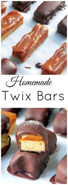 "Dark Chocolate and Salted Caramel ""Twix"" Bars"