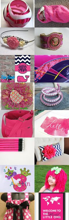 Hot Pink Mood by Jo Stamatakis on Etsy--Pinned with TreasuryPin.com #giftideas