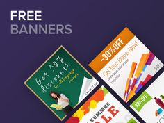 These #free #banners are ready to download! https://www.joomla-monster.com/free-stuff/free-banners