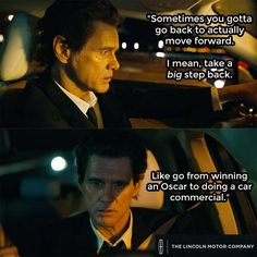 Jim Carrey as Matthew McConaughey for Lincoln.