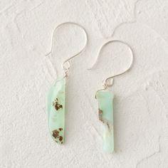 Terrain Chrysoprase Slice Earrings #shopterrain