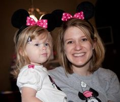 Make your own minnie mouse ears  http://www.thesuburbanmom.com/2010/06/16/how-to-make-mickey-minnie-mouse-ears-for-a-party/