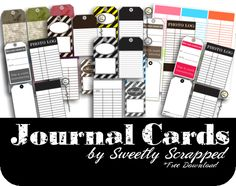 Several different sheets of free printable tags - check out this website for more great printables!
