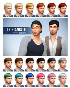 Simsontherope: Le Pianiste hairstyle  - Sims 4 Hairs - http://sims4hairs.com/simsontherope-le-pianiste-hairstyle/