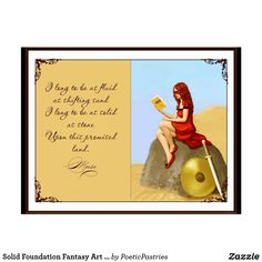 Shop Solid Foundation Fantasy Art Postcard created by PoeticPastries. Personalize it with photos & text or purchase as is! Fantasy Women, Fantasy Art, Rustic Apartment Decor, Holiday Cards, Christmas Cards, Foundation, Unique Paintings, White Elephant Gifts, Postcard Size