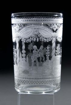 Jahreszeitenbecher Riedel Glass Beaker Seasons Old circa 1810. We buy, sell and collect fine antiques. Visit Renaissance Fine Jewelry and Renaissance Fine Antiques in Vermont. www.vermontjewel.com