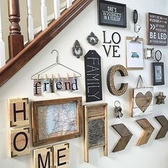 Wall collage decor ideas to have the best rustic gallery wall picture wall collage wall collage Rustic Gallery Wall, Wall Decor, Decor, Farmhouse Decor, Rustic House, Home Projects, Sweet Home, Rustic Decor, New Homes